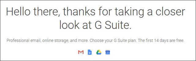 Learn More and Sign Up for G Suite Today